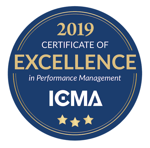 2018 ICMA Certificate of Distinction in Performance Management