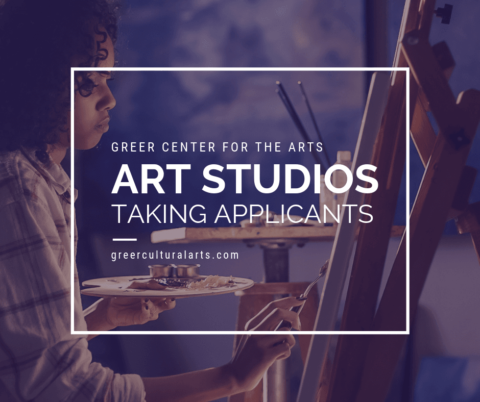 Taking Applications for Artist Studios for the Greer Center for the Arts