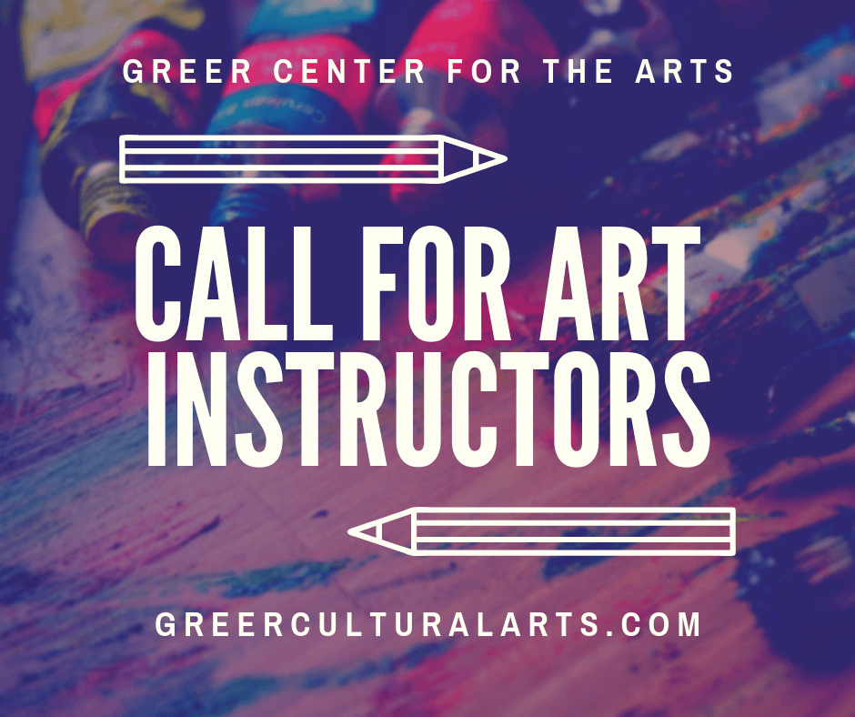 Taking Applications for Arts Instructors for the Greer Center for the Arts