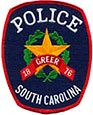 Greer Police Patch