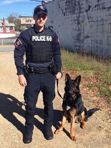 Jordan Williams and K-9 Boss