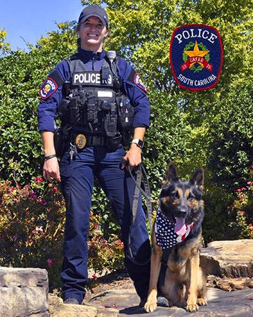 Anna Barnett and K-9 Stryker