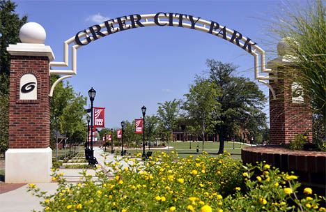 Greer City Park Entrance Signs
