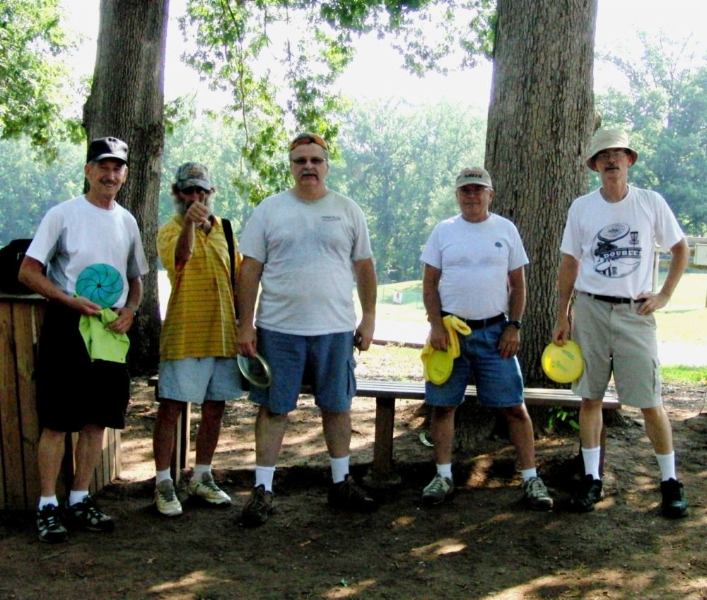 Iron Man Disc Golf Senior Division Participants