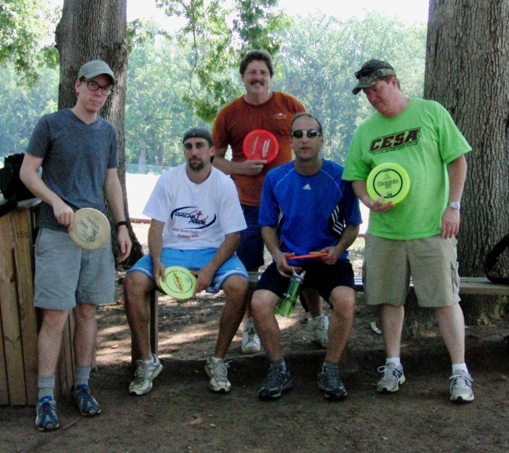 Iron Man Disc Golf Advanced and Intermediate Division Participants